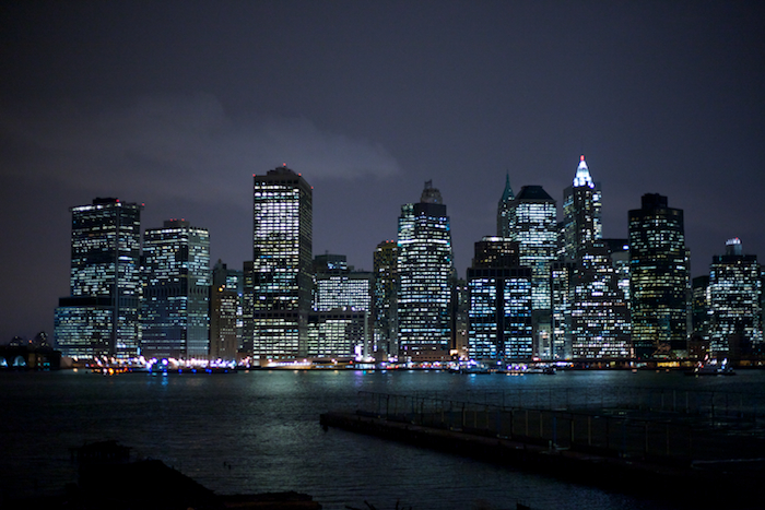 Manhattan at night - viewed from Brooklyn