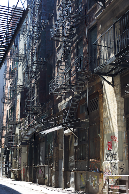 Fire escapes in China Town