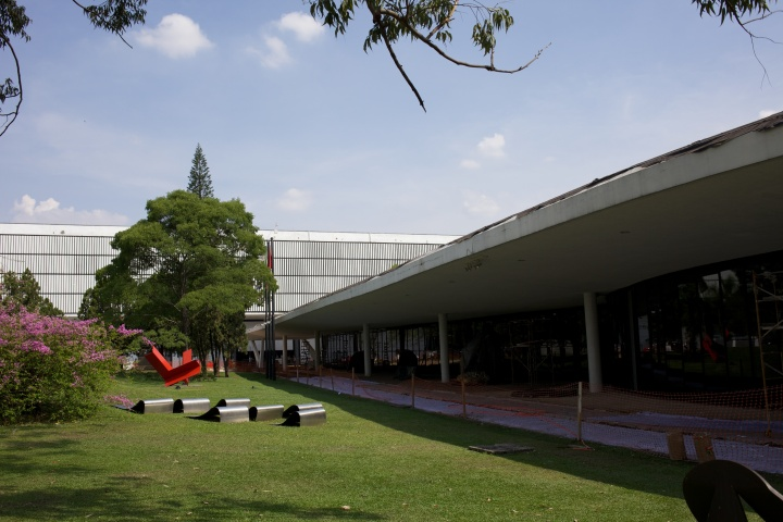With the gallery in the background, the Museum of Modern Art on the right