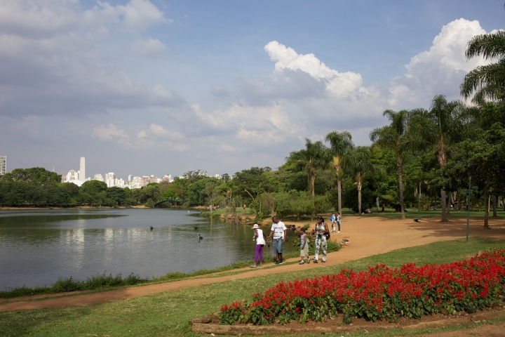 One of the many lakes in the park