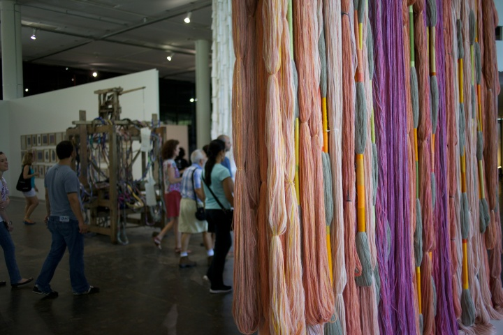 Textiles were a big feature of the biennial